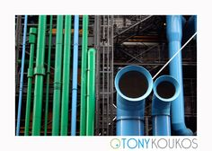 angles, architecture, blue, exterior, functional, green, landmark, Paris, pipes, pompidou, postmodern, steel