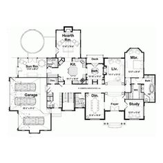 European House Plan with 5340 Square Feet and 5 Bedrooms from Dream Home Source   House Plan Code DHSW67727 featuring polyvore