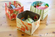 Fabric Scrap Basket Tutorial
