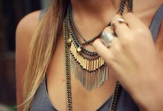 layered chains. #statement #jewelry #necklace