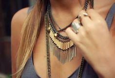 Layered chains. #bijoux #bijouxcreateur #bijouxfantaisies #paris #tendancesbijoux2016