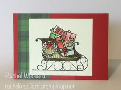 Watercolour Santa Sleigh by Rach W - Cards and Paper Crafts at…