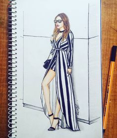256 Likes, 18 Comments - Dipti Patel Dress Design Sketches, Fashion Design Sketchbook, Fashion Design Drawings, Fashion Sketches, Fashion Drawing Dresses, Fashion Illustration Dresses, Fashion Dresses, Fashion Art, Fashion Models