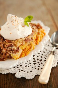 Check out what I found on the Paula Deen Network! Aunt Trina's Holiday Pumpkin Crunch http://www.pauladeen.com/recipes/recipe_view/aunt_trinas_holiday_pumpkin_crunch