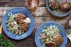 "Lamb sausage with cauliflower ""tabbouleh"""