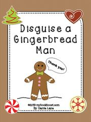 Disguise a Gingerbread Man! Enter for your chance to win 1 of 2. Disguise a Gingerbread Man  (10 pages) from My Book Boost on TeachersNotebook.com (Ends on on 11-23-2015) Make creative disguises for the gingerbread man! He doesn't want to spend the whole month of December running. Help him by making him look like something else like a zebra or vase of flowers. .