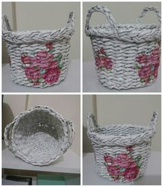 My first newspaper basket 😄