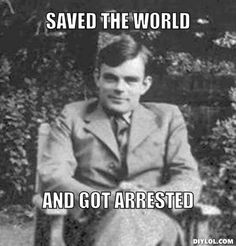 Alan Turing, famed codebreaker at Bletchley Park during WWII was prosecuted for 'homosexual conduct' and branded a security risk. Enigma Machine, Bletchley Park, Gordon Brown, The Imitation Game, Alan Turing, Female Hormones, Extraordinary People, Data Processing, Writers