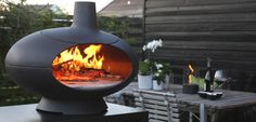 Morso Living - Outdoor Pizza Oven Love this Danish design...Danish made...award winning cast iron pizza oven/outdoor heater.