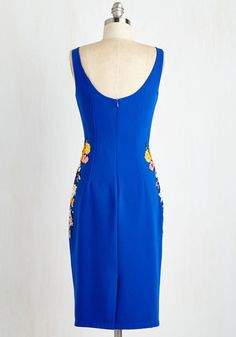 Cheerily Beloved Dress. Youll arrive to a reception of rave reviews in this royal blue sheath from Chi Chi London! #blue #modcloth