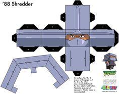 1988 Shredder TMNT Cubee 1 of2 by etchings13.deviantart.com on @deviantART