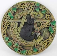 Cat and Pentagram Wall Plaque *** Click on the image for additional details.