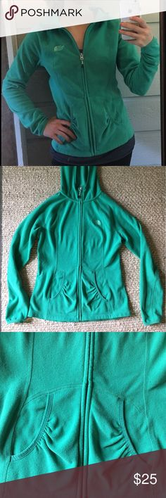 North Face zip up Green North Face zip up hoodie with front pockets North Face Tops Sweatshirts & Hoodies