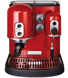 Red Artisan KitchenAid Coffee Machine...WANT!