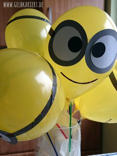 Kindergeburtstagsparty - Luftballons Minion Party, Minion Theme, Minion Birthday, Happy Birthday, Birthday Parties, Birthday Ideas, Crafts For Teens, Diy For Kids, Diy And Crafts