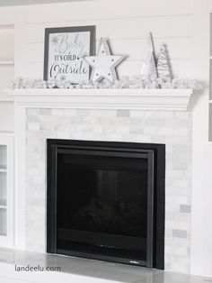 Baby its cold outside mantel