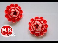 Мастер-класс Канзаши. Резиночки для волос. Цветы из атласных лент.