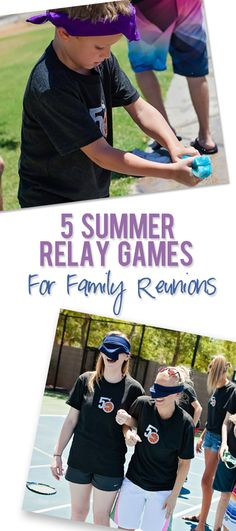 Instructions on how to execute 5 summer relay games; great for large groups, young and old and family reunions