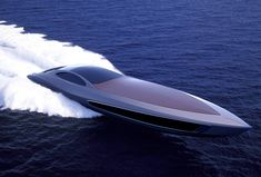 The Strand Craft 122 is a design study that combines the creation of a supercar and a super yacht, where the yacht also acts as a transport for the auto. The specs of the car is as told - a eng. Fast Boats, Speed Boats, Power Boats, Yacht Design, Boat Design, Bateau Yacht, Super Sport Cars, Yacht Boat, Bugatti Veyron