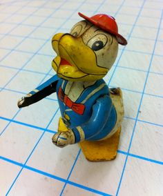 Donald Duck Tin Litho Toy Figure by BmoreUnique on Etsy, $35.00