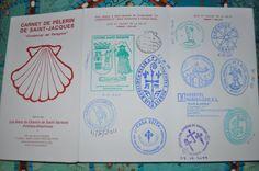 My pilgrim's passport for the Camino de Santiago de Compostela
