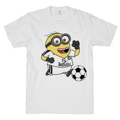 Minion Soccer on a White T Shirt – Print Proxy