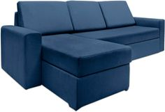 Haven+Persian+Blue+Fabric+Sectional+Sofa+Bed