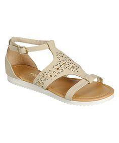 Look at this Beige Ayla Gladiator Sandal on #zulily today!