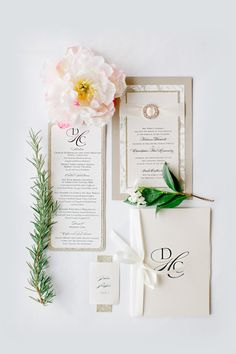 Glam San Francisco Wedding stationery suite designed by Papered Wonders. #purelywondrousinspiration