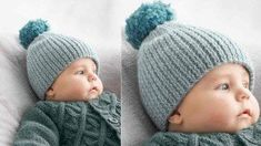 coloris Azur, Un bonnet pour bébé - Prima