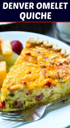 Omelet Quiche Denver Omelet Quiche with ham, onion, and bell pepper.Denver Omelet Quiche with ham, onion, and bell pepper. Quiches, Breakfast Dishes, Breakfast Recipes, Breakfast Quiche, Breakfast Casserole, Gourmet Recipes, Cooking Recipes, Recipes With Ham, Kiesh Recipes