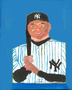 Derek Jeter of the New York Yankees done by Celebrity artist Nat Solomon. This was done as a painting and a digital print.