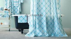 IKEA Shower curtain INGEBORG  white, turquoise stars - New  #IKEA