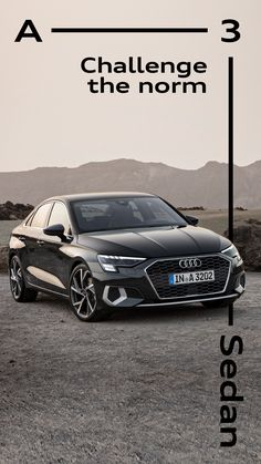 Elegance is not about being noticed, it's about being remembered. The new Audi A3 Sedan - designed to be unforgettable. #AudiA3 #Sedan #dynamic Audi A3 Sedan, Challenges, Cars, Roof Tiles, Autos, Automobile, Car, Trucks