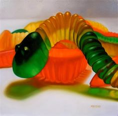 If It's Hip, It's Here: Margaret Morrison's Paintings Of Candy Treats and Childhood Toys