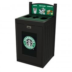 TRH51-3: #CommercialRecycling bin designed for indoor and outdoor construction. It supports up to 4 separate types of waste and recyclables. #CampusRecycling #OfficeRecycling