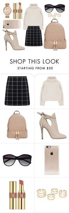 """Untitled #37"" by sashazaiats on Polyvore featuring Miss Selfridge, MICHAEL Michael Kors, Jimmy Choo, Vince Camuto, Incase, Yves Saint Laurent and Michael Kors"