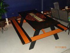 Harley Davidson picnic table