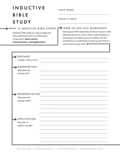 Printables Inductive Bible Study Worksheet closer study and bible studies on pinterest