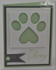 ... Stampin Up heart & small oval
