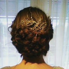 Christmas braided updo #xmas #braids #updo
