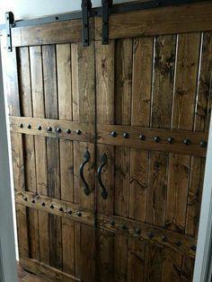 Custom made rustic barn doors