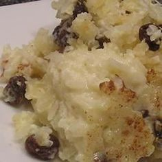 This rice pudding is lovely served warm. It has the appeal of homemade comfort food.