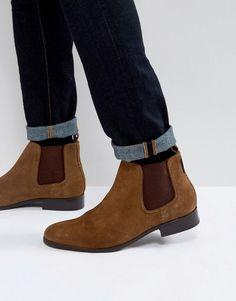 BEN SHERMAN CHELSEA BOOTS IN TAN SUEDE - TAN. #bensherman #shoes #