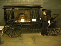 1845 Hearse. Would love to see this lit up with spooky green lighting on the inside as a Halloween prop. Cool black Moriah.