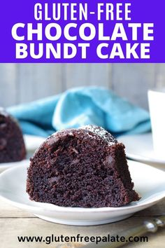 An easy recipe for gluten free chocolate bundt cake that is tender and has the perfect amount of chocolate. Gluten Free Bundt Cake Recipe, Gluten Free Chocolate Cake, Chocolate Bundt Cake, Gluten Free Cakes, Gluten Free Baking, Gluten Free Deserts Easy, Patisserie Sans Gluten, Dessert Sans Gluten, Salty Cake