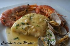 Cocinando con Montse: Cazuela de merluza. http://www.cocinandoconmontse.com/2014/12/cazuela-de-merluza-navidad-pescado-salsa-marisco-cuaresma-recetas.html