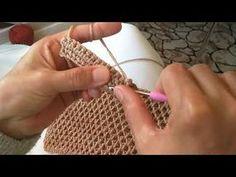 Free Crochet, Knit Crochet, Crochet Market Bag, Bobble Stitch, Crochet Handbags, Crochet Patterns For Beginners, Crochet Videos, Crochet Stitches, Bag Making