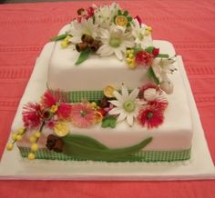 My First final 'Test Out' cake from my first 6 month Cake Decorating Course. 2007