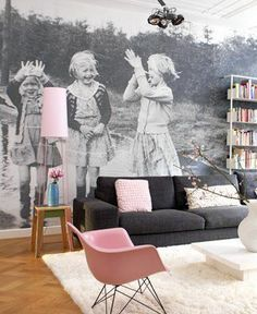 Customizable wallpaper - this is so cool! I can imagine so many cool possibilities in a child's bedroom or schoolroom.